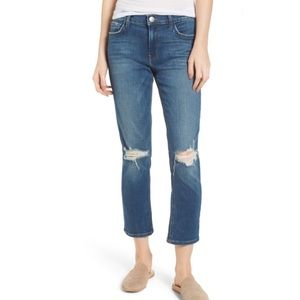 Current Elliott The High Rise Straight Crop Jeans